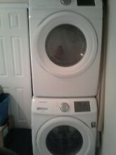 Sam Sung Washer And dryer stackable or side  by side both electric runs great