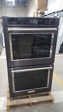 KitchenAid 30  NonConvection Black SS Double Wall Oven Model  KODE500EBL