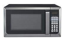 Hamilton Beach 0 9 Cubic Feet Microwave Oven Countertop Stainless Steel Black