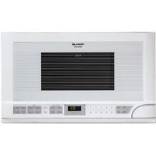 Sharp 1 5 Cu  Ft  1100W Over the Counter Carousel Microwave in White   R1211T