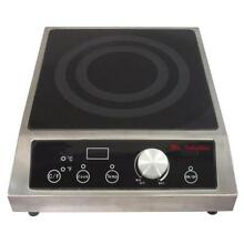 SPT Tempered Glass Countertop Electric Commercial Cooktop 3400 Watt 12 6 In New