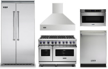 Viking 48  Dual Fuel Range and 42  Refrigerator  Dishwasher  Hood
