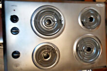 Whirlpool 30  Stainless Steel Electric Cooktop 4 Coil Heating ElementsWCC31430AR