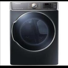 Samsung  9 5 cu  ft  Super Capacity Front Load Dryer and Washer in Onyx Black