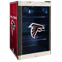 Atlanta Falcons NFL Glass Door 4 6 cu  ft  Refrigerator For Home Office Dorm