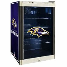 Baltimore Ravens NFL Glass Door 4 6 cu  ft  Refrigerator For Home Office Dorm