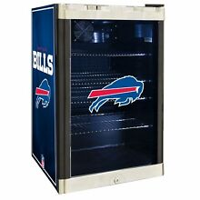 Buffalo Bills NFL Glass Door 4 6 cu  ft  Refrigerator For Home Office Dorm