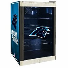 Carolina Panthers NFL Glass Door 4 6 cu  ft  Refrigerator For Home Office Dorm