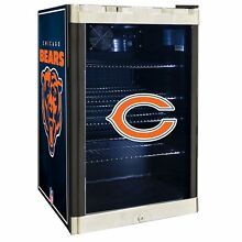 Chicago Bears NFL Glass Door 4 6 cu  ft  Refrigerator For Home Office Dorm