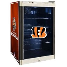 Cincinnati Bengals NFL Glass Door 4 6 cu  ft  Refrigerator For Home Office Dorm