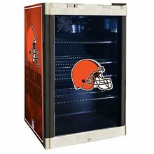 Cleveland Browns NFL Glass Door 4 6 cu  ft  Refrigerator For Home Office Dorm