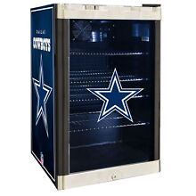 Dallas Cowboys NFL Glass Door 4 6 cu  ft  Refrigerator For Home Office Dorm