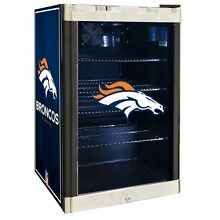 Denver Broncos NFL Glass Door 4 6 cu  ft  Refrigerator For Home Office Dorm