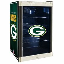 Green Bay Packers NFL Glass Door 4 6 cu  ft  Refrigerator For Home Office Dorm