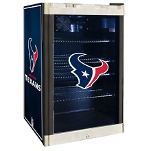 Houston Texans NFL Glass Door 4 6 cu  ft  Refrigerator For Home Office Dorm