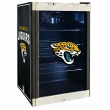 Jacksonville Jaguars NFL Glass Door 4 6 cu Ft  Refrigerator For Home Office Dorm