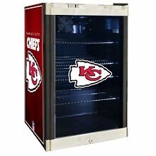 Kansas City Chiefs NFL Glass Door 4 6 cu Ft  Refrigerator For Home Office Dorm