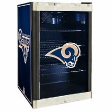 Los Angeles Rams NFL Glass Door 4 6 cu Ft  Refrigerator For Home Office Dorm