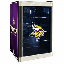 Minnesota Vikings NFL Glass Door 4 6 cu  ft  Refrigerator For Home Office Dorm