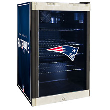 New England Patriots NFL Glass Door 4 6 cu ft  Refrigerator For Home Office Dorm