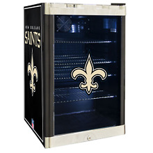 New Orleans Saints NFL Glass Door 4 6 cu ft  Refrigerator For Home Office Dorm