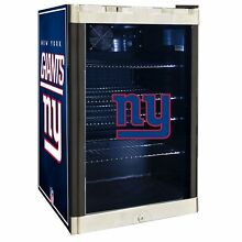 New York Giants NFL Glass Door 4 6 cu ft  Refrigerator For Home Office Dorm