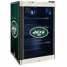 New York Jets NFL Glass Door 4 6 cu ft  Refrigerator For Home Office Dorm