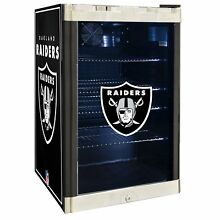 Oakland Raiders NFL Glass Door 4 6 cu ft  Refrigerator For Home Office Dorm
