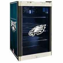 Philadelphia Eagles NFL Glass Door 4 6 cu ft  Refrigerator For Home Office Dorm