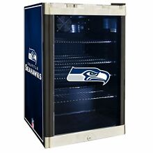 Seattle Seahawks NFL Glass Door 4 6 cu ft  Refrigerator For Home Office Dorm