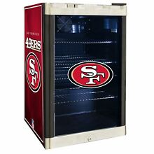 San Francisco 49ers NFL Glass Door 4 6 cu ft  Refrigerator For Home Office Dorm