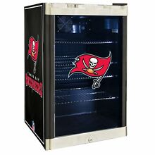 Tampa Bay Buccaneers NFL Glass Door 4 6 cu ft  Refrigerator For Home Office Dorm
