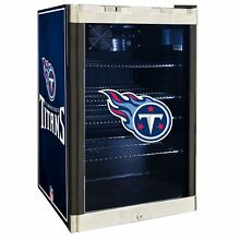 Tennessee Titans NFL Glass Door 4 6 cu ft  Refrigerator For Home Office Dorm