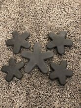 Five  5  Cast Iron Burner Stars For THERMADOR Gas Range SGS365ZS 01