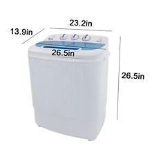 Twin Tub Washer Machine   13lbs Total Laundry  Unattached Washing Spin Cycle