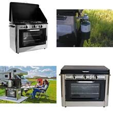 Camp Kitchen Range Oven Stove Propane Gas 2 Burner Rack Bbq Camping Outdoor New