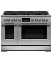 Fisher   Paykel 48in Stainless Pro Style Duel Fuel Range Griddle   RDV2485GDNN
