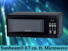 Digital Microwave Oven   0 7 Cu Ft  700 Watts LED  Countertop  Black By Sunbeam