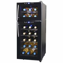 NewAir 21 Bottle Thermoelectric Wine Refrigerator  Black W