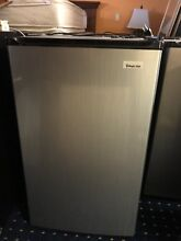 Magic Chef Stainless Mini Refrigerator 3 5 cu  ft Energy Space Saver 3 Shelves