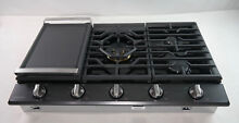 Samsung 36  Gas Cooktop 5 Burners Dual Brass Stainless NA36K7752TG WIFI   READ