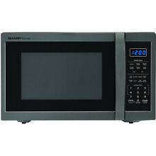 Sharp 1 4 Cu  Ft  1100W Over The Counter Carousel Microwave   SMC1452CH