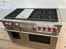 WOLF 48  Dual Fuel Convection Gas Range Stainless Steel PRO SERIES