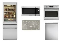 Monogram Kitchen Package with Glass Door Integrated Refrigerator and Induction