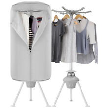 Portable Electric Quickly Clothes Dryer Wardrobe Rack 1000W Drying Machine Timer