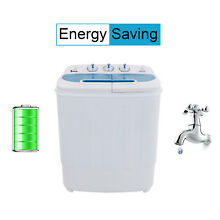 Portable Washing Machine Compact Twin Tub Washer Spin   Dryer Top Grade Material