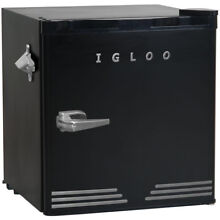 Igloo 1 6 CuFt Retro Fridge Dormitory Refrigerator  Black    FR176BLACK
