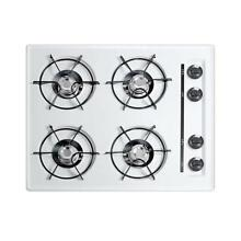Summit Appliance 24 In  Gas Cooktop 4 Burners Electronic Ignition Kitchen White
