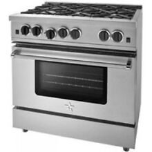 BlueStar 36  Sealed Burner Series Stainless Steel Gas Range