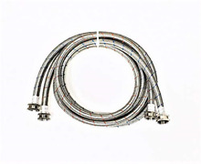 2 Pack Premium Stainless Steel Washing Machine Hoses   8 FT No Lead Burst Proof